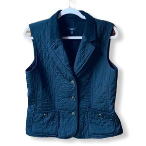 Talbots Quilted, Fleece-Lined Vest - Size Small